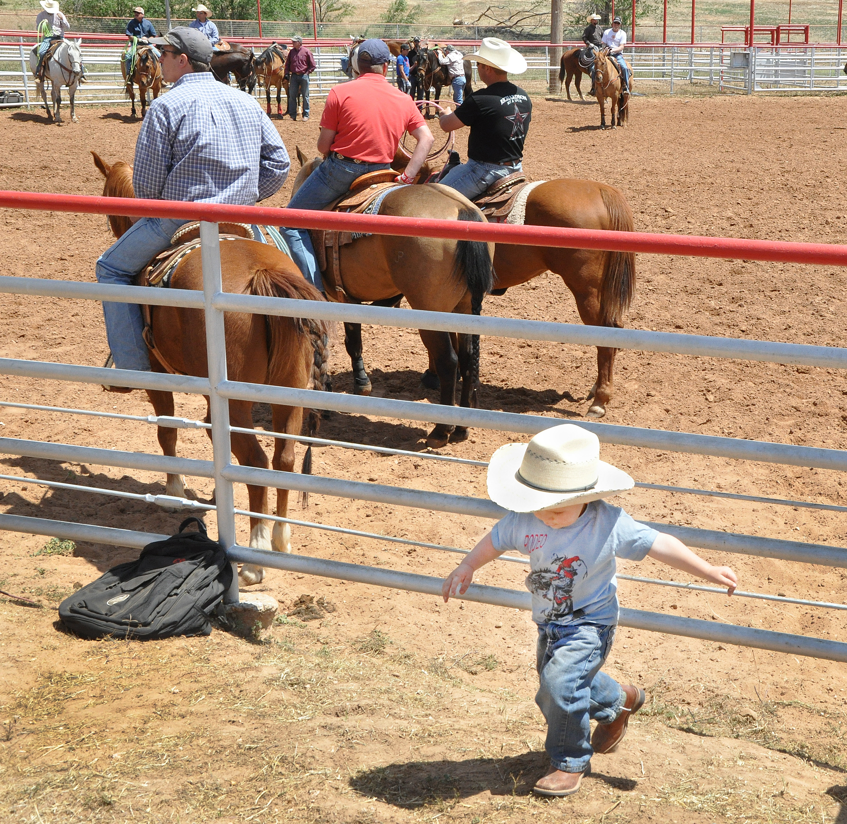 boy at roping